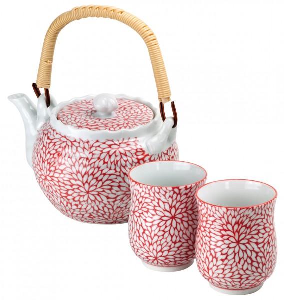 Japan Teeset 'Sakushi' mit 1 Kanne und 2 Cups