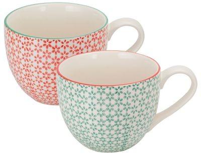 Taza de porcelana 'Mina' 550 ml, 2 surtidos