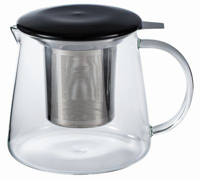 Glass teapot 0.6 l with lid/micro strainer