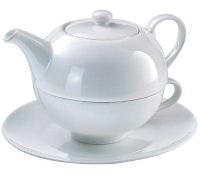 Thé pour un set blanc 3 pcs 500ml