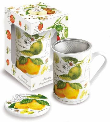 Mug with lid 'Lemon & Lime' 0,3 l