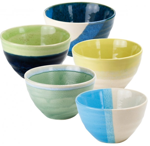 Japan ceramic cup 'Shizuka' 5-assorted designs
