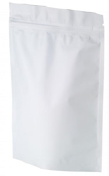 Standbodenb. mit Zipper 75 g weiß matt 130x200