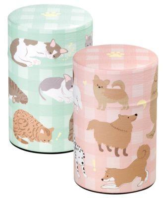 Japanese Tin 'Neko & Inu' 2-assorted designs
