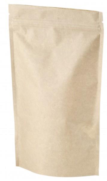 Standbodenb. mit Zipper 500 g Kraftpapier 210 x 380 mm