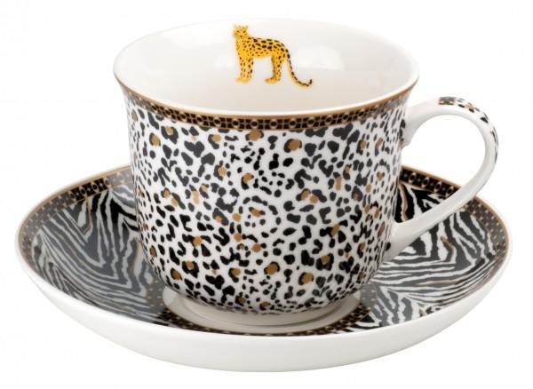 Porcelain Mega cup & saucer 'Savana' 400 ml, 2-part