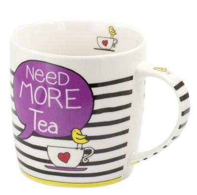 #Porzellan Becher 'Need more tea' 300 ml