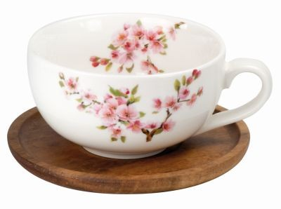 !Porzellan Teetasse 'Sakura' 250 ml mit Akazieu: