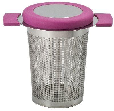 Edelstahlsieb 'Anti-Slip' H 8 cm pink (rosa)