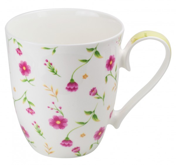 Tasse en porcelaine brillante Flora 450 ml