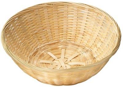 Cesta de bambú natural redonda de 22 cm