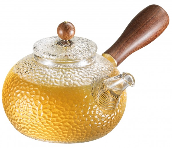 Glas Teekanne 'Oriental' 150 ml mit Holz-Seitengriff
