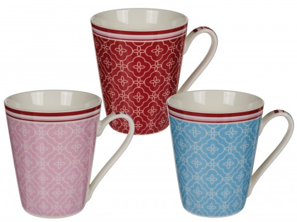NBC Mug 'Oriental flower' 300 ml 3-assorted