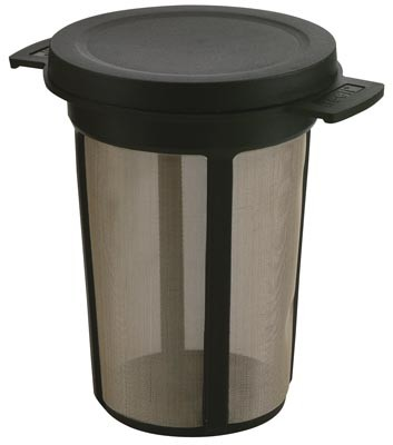Teeli-Best L schwarz m. Deckel Durchm. innen: 6,4 cm x Höhe (ohne Deckel): 9,7 cm