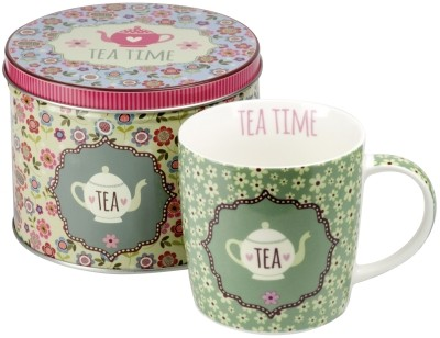!taza de porcelana 'Tea time' reseda verde 300 ml
