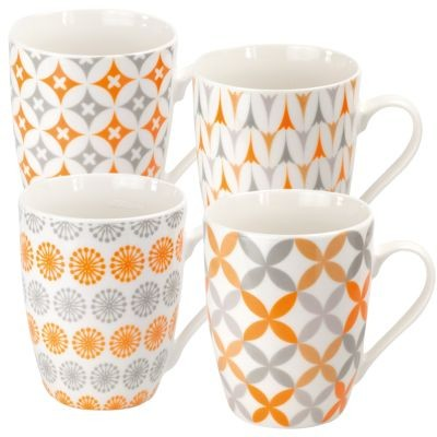 #New Bone China Becher 'Apricot' 300 ml, 4-fach sortiert