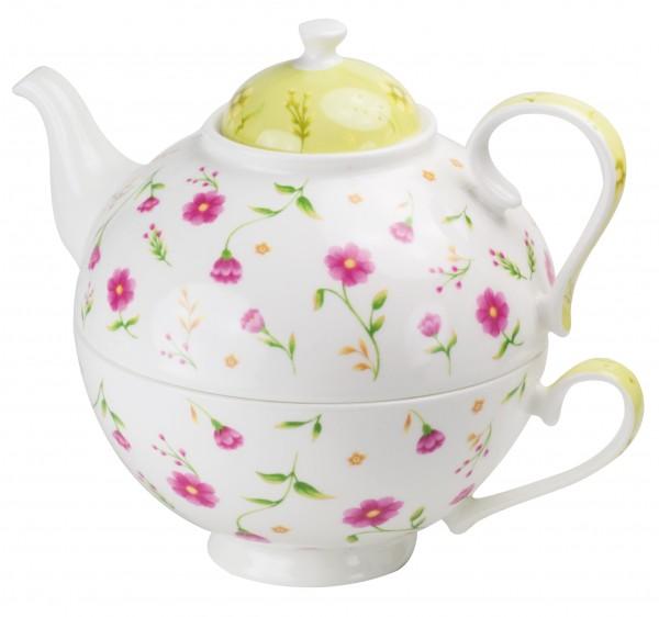 Set Tea for one de por. brillante 'Flora' 650 ml