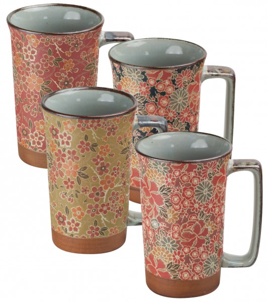 Japan mug 'Hanami' 4-assorted designs