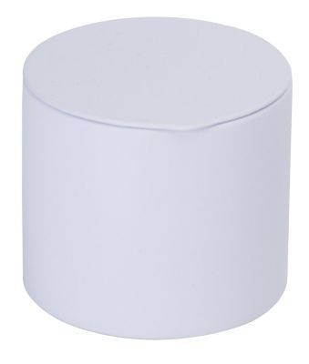 Tin 40 g round with tuck-in lid, white