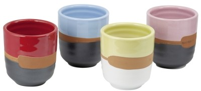 Ceramics Bowl 'Retro' 180 ml, 4-assorted designs