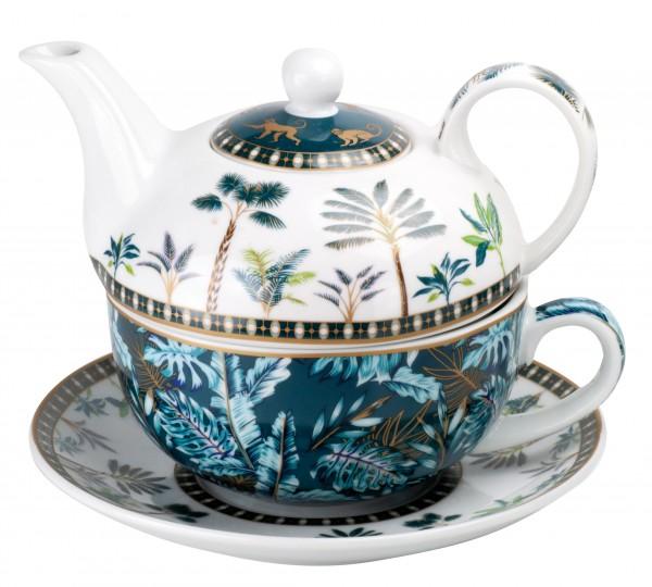Porz.Tea for one 'Jungle' 0,3l in Geschenkv.