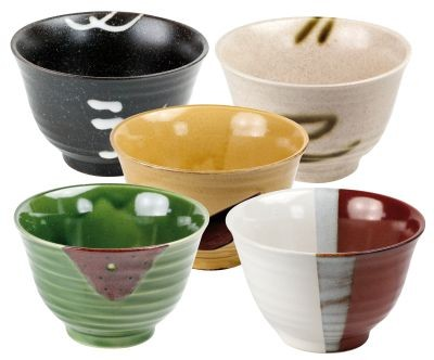 Japanese bowl 'Zen', 5-assorted designs