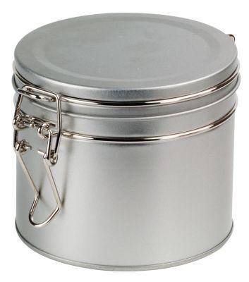 Vakuumdose silber 100 g rund