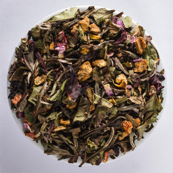 Hibiscus strawberry Bio (Flavoured white tea) DE-ÖKO-003
