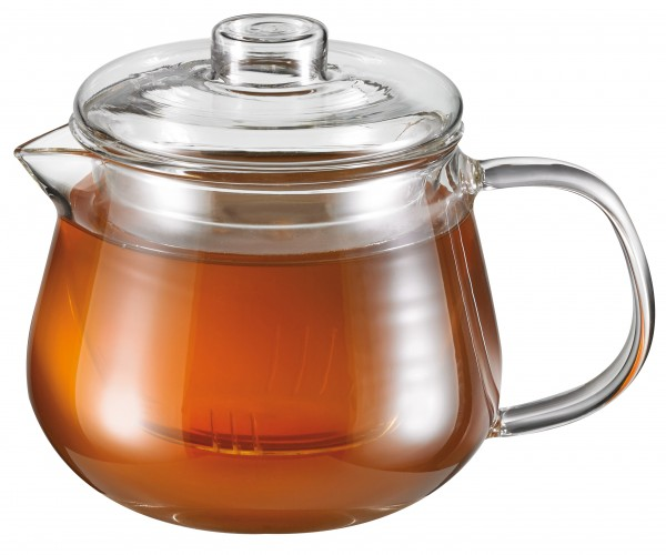 Glass tea pot 'Compact' 400 ml with glass strainer
