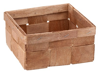 chip basket square brown, 15,5 x 15,5 x 8 cm