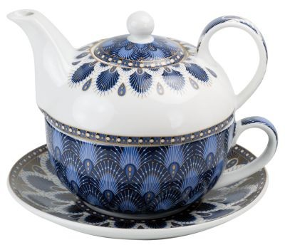 Tea for one Set 'Atmosphere' blau, 300 ml