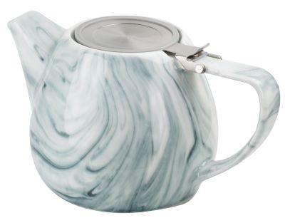 Théière en porcelaine 'Enja' 1 l gris
