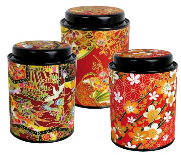 Japan tin 'Hanayo' 3-assorted Designs