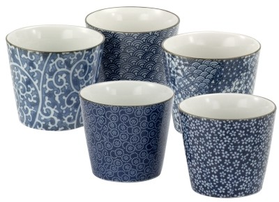 Japan tea cup 'Mugen' 5-assorted