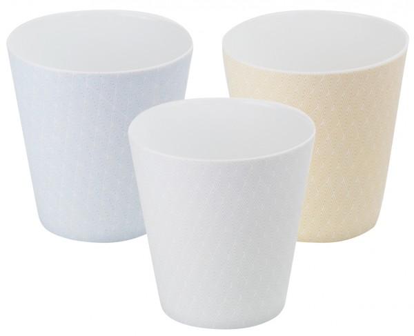 Japan porcelain cup 'Kiyo' 3-assorted designs