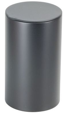 Tin 80 g round with tuck-in lid, black