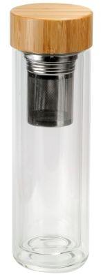 Gobelet à double paroi en verre Bamboo 380 ml