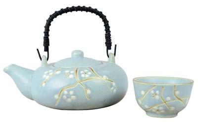 Teapot 0,6 l w/4 Cups 'Floris'