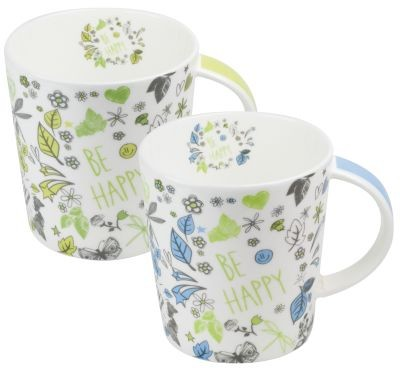 Mega taza FBC 'Be Happy' 500 ml, 2 surtidos