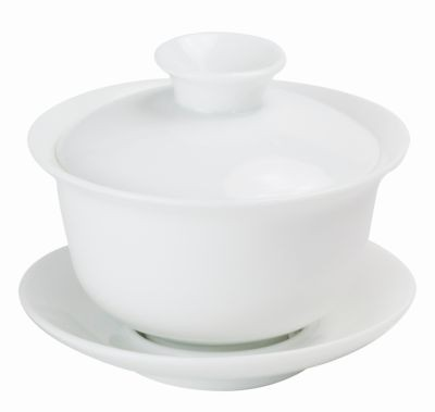Porcelaine Gaiwan blanche 160 ml