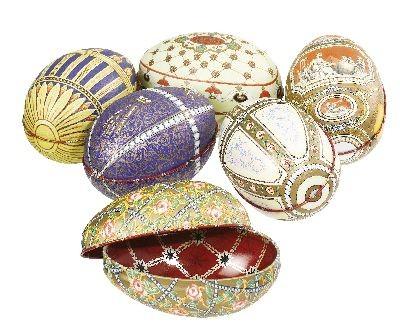 Huevo tipo 'Fabergé', 6 motivos