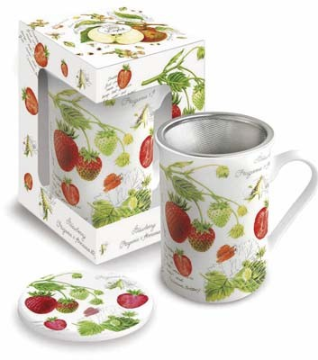 Mug with lid 'Strawberry' 0,3 l