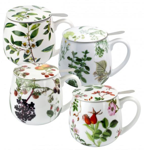 Porzellan Deckelbecher 'My favourite tea' 3-fach