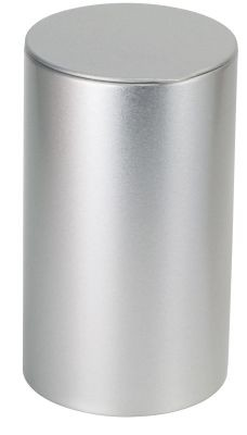 Tin 80 g round with tuck-in lid, silver
