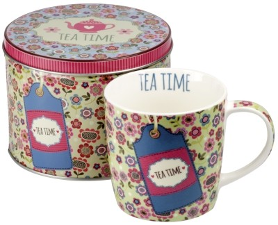 Porcelain mug 'Tea time' antique lime green 300 ml