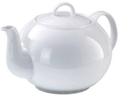 Porcelain teapot col. white, 1,2l