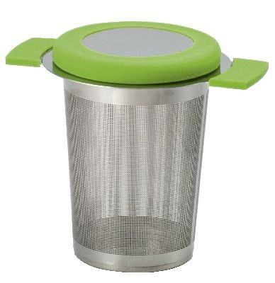 Edelstahlsieb 'Anti-Slip' H 8 cm grün