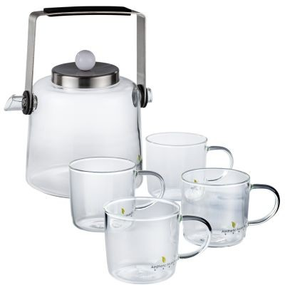 Service à thé en verre Oushu 5 pièces