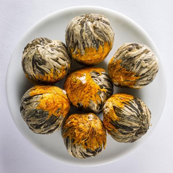 China Tea Rose ,Marigold & Peach' Green tea