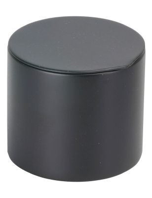 Tin 40 g round with tuck-in lid, black